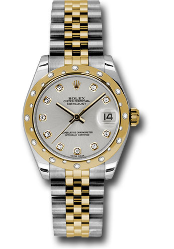 Rolex Watches - Datejust 31 Steel and Yellow Gold - 24 Dia Bezel - Jubilee - Style No: 178343 sdj