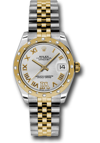 Rolex Watches - Datejust 31mm - Steel and Gold Yellow Gold - 24 Dia Bezel - Jubilee - Style No: 178343 sdrj