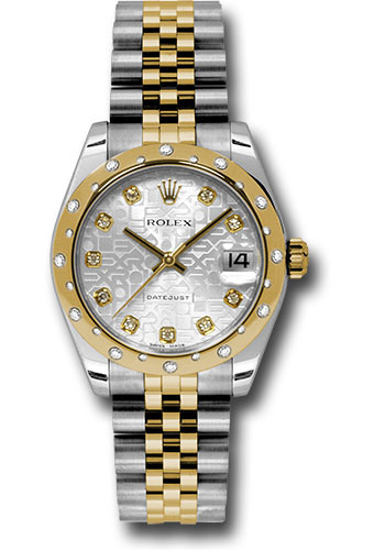 Rolex Watches - Datejust 31mm - Steel and Gold Yellow Gold - 24 Dia Bezel - Jubilee - Style No: 178343 sjdj