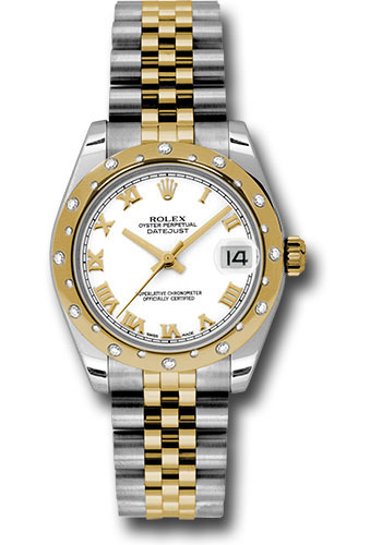 Rolex Watches - Datejust 31 Steel and Yellow Gold - 24 Dia Bezel - Jubilee - Style No: 178343 wrj