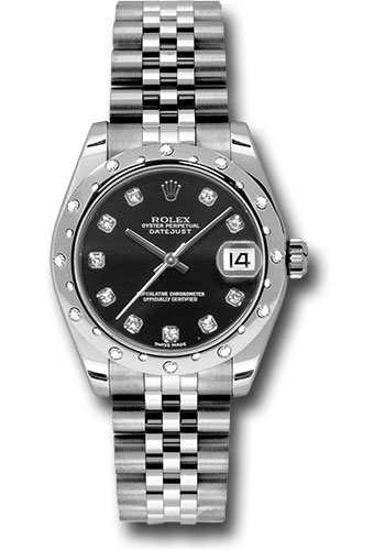 Rolex Watches - Datejust 31mm - Steel 24 Diamond Bezel - Jubilee Bracelet - Style No: 178344 bkdj