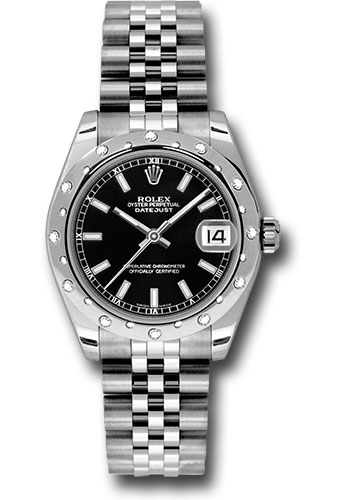 Rolex Watches - Datejust 31mm - Steel 24 Diamond Bezel - Jubilee Bracelet - Style No: 178344 bkij
