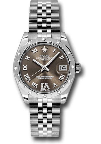Rolex Watches - Datejust 31mm - Steel 24 Diamond Bezel - Jubilee Bracelet - Style No: 178344 brdrj