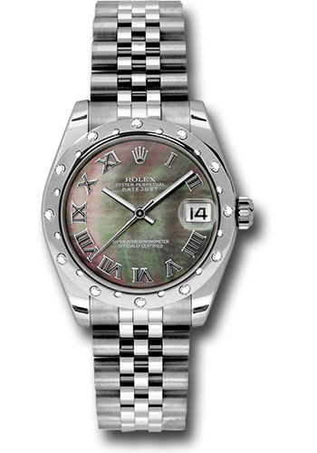 Rolex Watches - Datejust 31mm - Steel 24 Diamond Bezel - Jubilee Bracelet - Style No: 178344 dkmrj