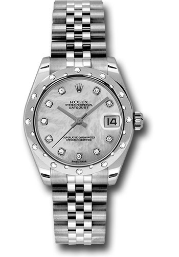 Rolex Watches - Datejust 31mm - Steel 24 Diamond Bezel - Jubilee Bracelet - Style No: 178344 mdj