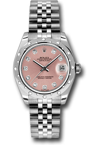 Rolex Watches - Datejust 31mm - Steel 24 Diamond Bezel - Jubilee Bracelet - Style No: 178344 pdj