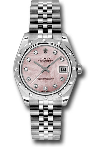 Rolex Watches - Datejust 31mm - Steel 24 Diamond Bezel - Jubilee Bracelet - Style No: 178344 pmdj