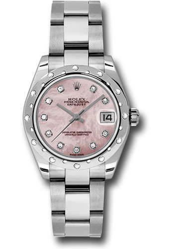 Rolex Watches - Datejust 31mm - Steel 24 Diamond Bezel - Oyster Bracelet - Style No: 178344 pmdo