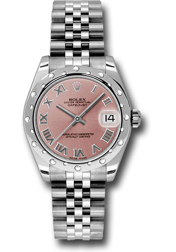 Rolex Watches - Datejust 31mm - Steel 24 Diamond Bezel - Jubilee Bracelet - Style No: 178344 prj