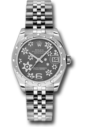 Rolex Watches - Datejust 31mm - Steel 24 Diamond Bezel - Jubilee Bracelet - Style No: 178344 rfj