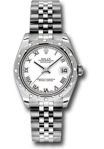 Rolex Watches - Datejust 31mm - Steel 24 Diamond Bezel - Jubilee Bracelet - Style No: 178344 wrj