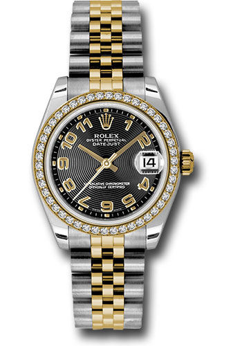 Rolex Watches - Datejust 31mm - Steel and Gold Yellow Gold - 46 Dia Bezel - Jubilee - Style No: 178383 bkcaj