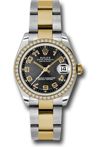 Rolex Watches - Datejust 31mm - Steel and Gold Yellow Gold - 46 Dia Bezel - Oyster - Style No: 178383 bkcao
