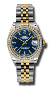 Rolex Watches - Datejust 31mm - Steel and Gold Yellow Gold - 46 Dia Bezel - Jubilee - Style No: 178383 blij