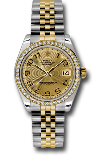 Rolex Watches - Datejust 31mm - Steel and Gold Yellow Gold - 46 Dia Bezel - Jubilee - Style No: 178383 chcaj