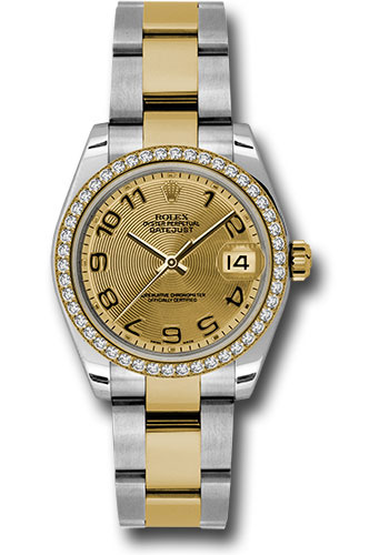 Rolex Watches - Datejust 31mm - Steel and Gold Yellow Gold - 46 Dia Bezel - Oyster - Style No: 178383 chcao