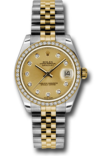 Rolex Watches - Datejust 31mm - Steel and Gold Yellow Gold - 46 Dia Bezel - Jubilee - Style No: 178383 chdj