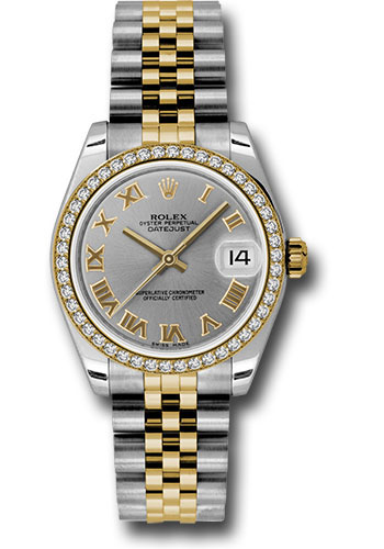 Rolex Watches - Datejust 31mm - Steel and Gold Yellow Gold - 46 Dia Bezel - Jubilee - Style No: 178383 grj