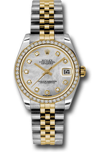 Rolex Watches - Datejust 31mm - Steel and Gold Yellow Gold - 46 Dia Bezel - Jubilee - Style No: 178383 mdj