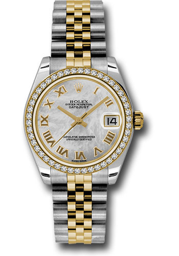 Rolex Watches - Datejust 31mm - Steel and Gold Yellow Gold - 46 Dia Bezel - Jubilee - Style No: 178383 mrj