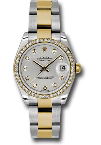 Rolex Watches - Datejust 31mm - Steel and Gold Yellow Gold - 46 Dia Bezel - Oyster - Style No: 178383 sdo