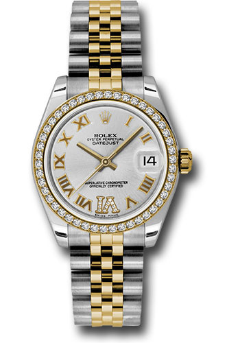 Rolex Watches - Datejust 31mm - Steel and Gold Yellow Gold - 46 Dia Bezel - Jubilee - Style No: 178383 sdrj