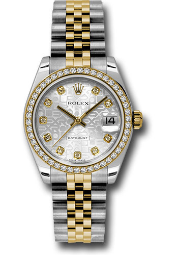 Rolex Watches - Datejust 31mm - Steel and Gold Yellow Gold - 46 Dia Bezel - Jubilee - Style No: 178383 sjdj