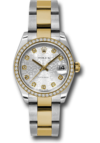 Rolex Watches - Datejust 31mm - Steel and Gold Yellow Gold - 46 Dia Bezel - Oyster - Style No: 178383 sjdo