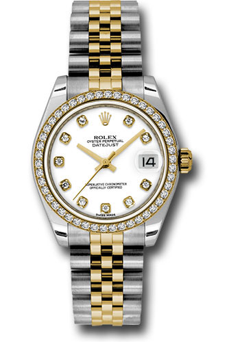 Rolex Watches - Datejust 31mm - Steel and Gold Yellow Gold - 46 Dia Bezel - Jubilee - Style No: 178383 wdj