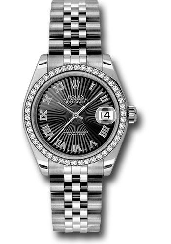 Rolex Watches - Datejust 31mm - Steel 46 Diamond Bezel - Jubilee Bracelet - Style No: 178384 bksbrj