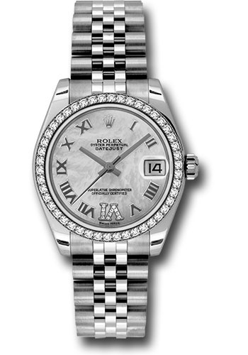 Rolex Watches - Datejust 31 Stainless Steel - 46 Diamond Bezel - Jubilee - Style No: 178384 mdrj