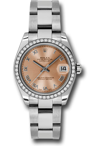 Rolex Watches - Datejust 31mm - Steel 46 Diamond Bezel - Oyster Bracelet - Style No: 178384 pro