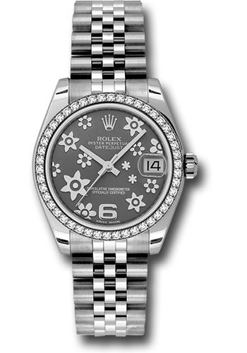Rolex Watches - Datejust 31 Stainless Steel - 46 Diamond Bezel - Jubilee - Style No: 178384 rfj