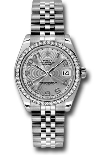 Rolex Watches - Datejust 31 Stainless Steel - 46 Diamond Bezel - Jubilee - Style No: 178384 scaj