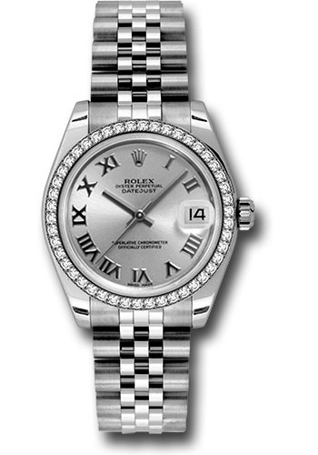Rolex Watches - Datejust 31 Stainless Steel - 46 Diamond Bezel - Jubilee - Style No: 178384 srj