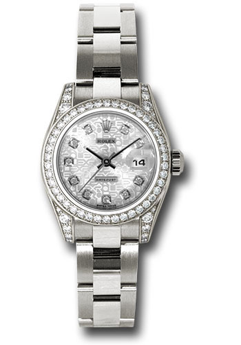 Rolex Watches - Datejust Lady - Gold President White Gold - Dia Bezel - Oyster - Style No: 179159 sjdo