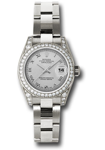 Rolex Watches - Datejust Lady - Gold President White Gold - Dia Bezel - Oyster - Style No: 179159 sro