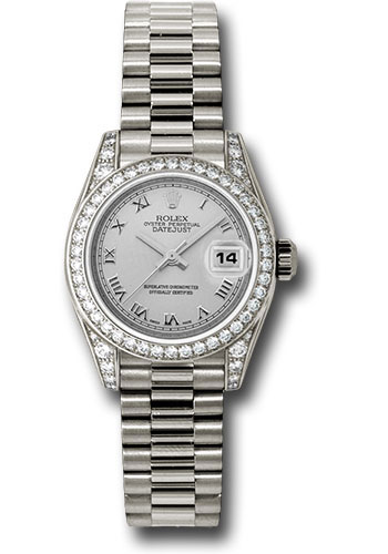 Rolex Watches - Datejust Lady - Gold President White Gold - Dia Bezel - President - Style No: 179159 srp