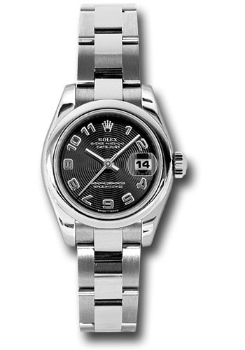 Rolex Watches - Datejust Lady - Steel Domed Bezel - Oyster Bracelet - Style No: 179160 bkcao