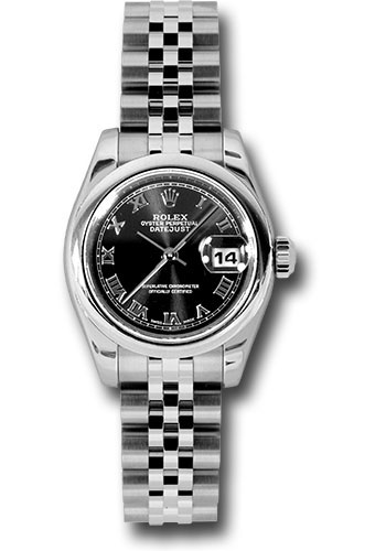 Rolex Watches - Datejust Lady - Steel Domed Bezel - Jubilee Bracelet - Style No: 179160 bkrj