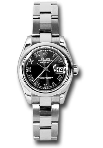 Rolex Watches - Datejust Lady - Steel Domed Bezel - Oyster Bracelet - Style No: 179160 bkro