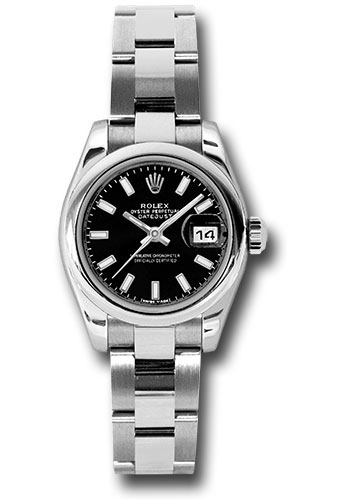 Rolex Watches - Datejust Lady - Steel Domed Bezel - Oyster Bracelet - Style No: 179160 bkso