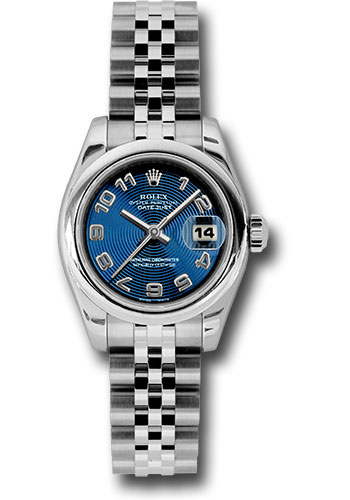 Rolex Watches - Datejust Lady - Steel Domed Bezel - Jubilee Bracelet - Style No: 179160 blcaj
