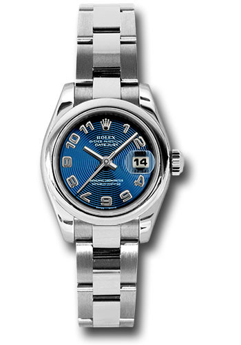 Rolex Watches - Datejust Lady - Steel Domed Bezel - Oyster Bracelet - Style No: 179160 blcao