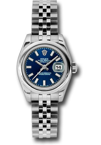 Rolex Watches - Datejust Lady - Steel Domed Bezel - Jubilee Bracelet - Style No: 179160 bsj