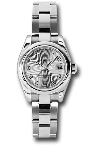 Rolex Watches - Datejust Lady - Steel Domed Bezel - Oyster Bracelet - Style No: 179160 scao