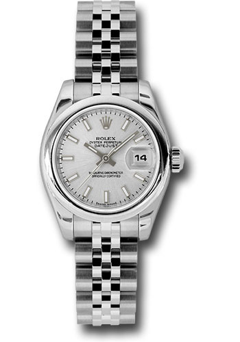 Rolex Watches - Datejust Lady - Steel Domed Bezel - Jubilee Bracelet - Style No: 179160 ssj
