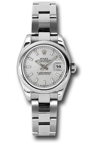 Rolex Watches - Datejust Lady - Steel Domed Bezel - Oyster Bracelet - Style No: 179160 sso
