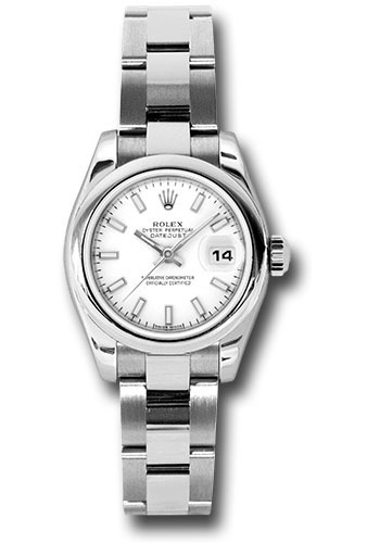 Rolex Watches - Datejust Lady - Steel Domed Bezel - Oyster Bracelet - Style No: 179160 wso
