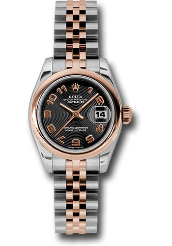 Rolex Watches - Datejust Lady - Steel and Gold Pink Gold - Domed Bezel - Jubilee - Style No: 179161 bkcaj